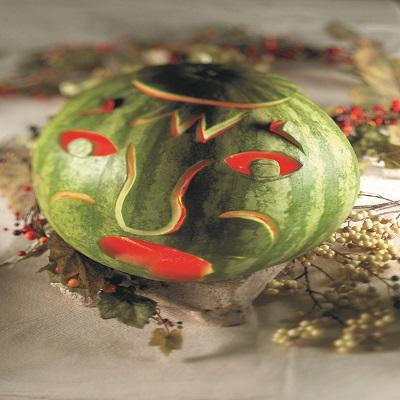 gtrrn watermellon carved for halloween