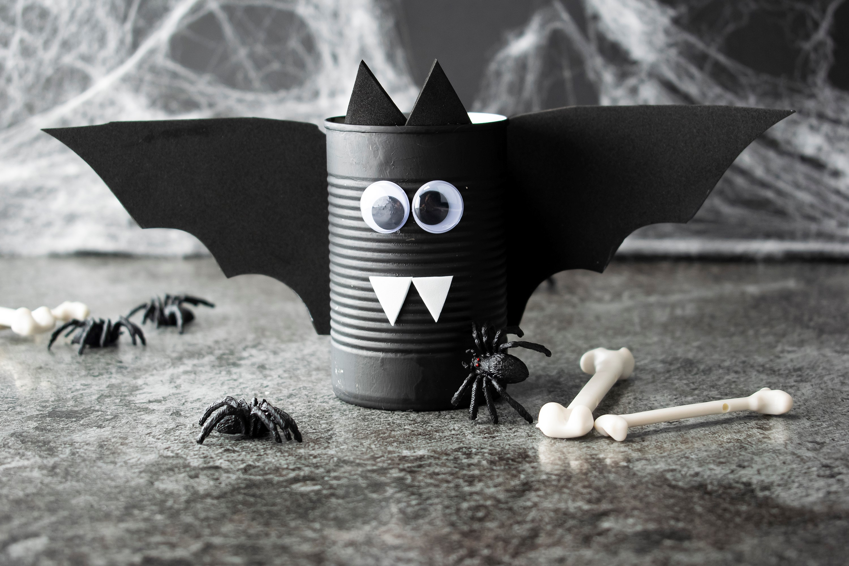 Halloween Black Mummy Can