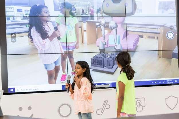 Girls Scouts at Microsoft