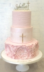 Girls Cchristening Cake