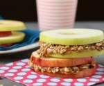 Apple Sandwiches with Almond Butter & Granola