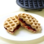 Mini Peanut Butter & Jelly Waffle Sandwiches